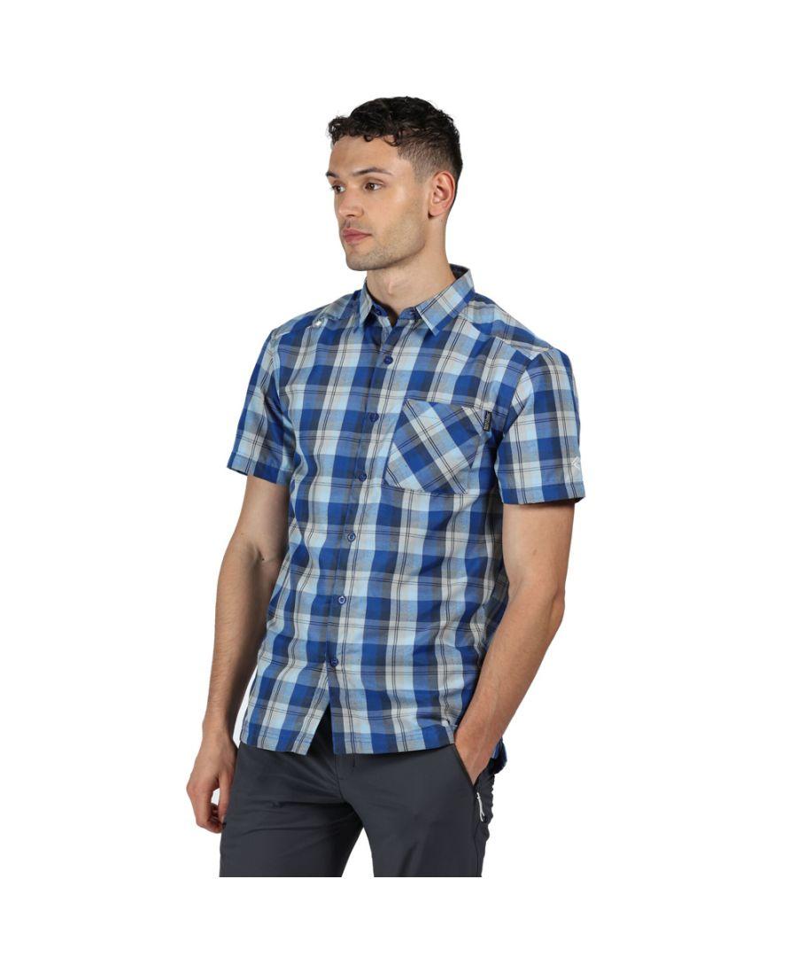 Image for Regatta Mens Kalambo V Polyester Checked Short Sleeve Shirt