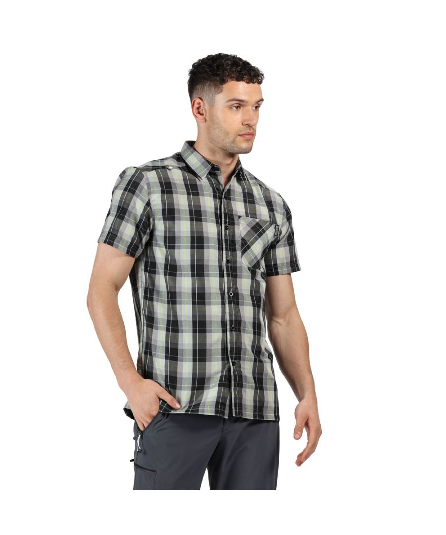 Image for Regatta Mens Kalambo V Polyester Checked Short Sleeve Shirt