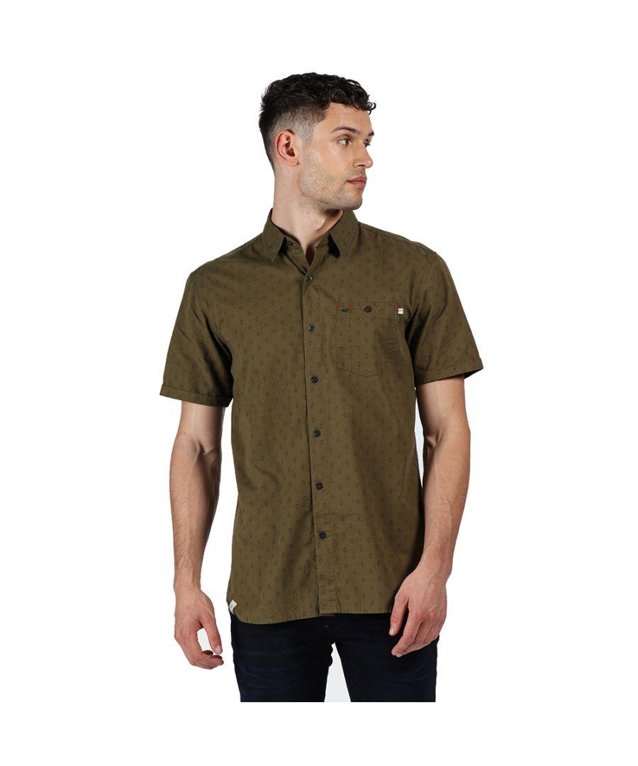 Image for Regatta Mens Dalziel Cotton Casual Short Sleeve Shirt