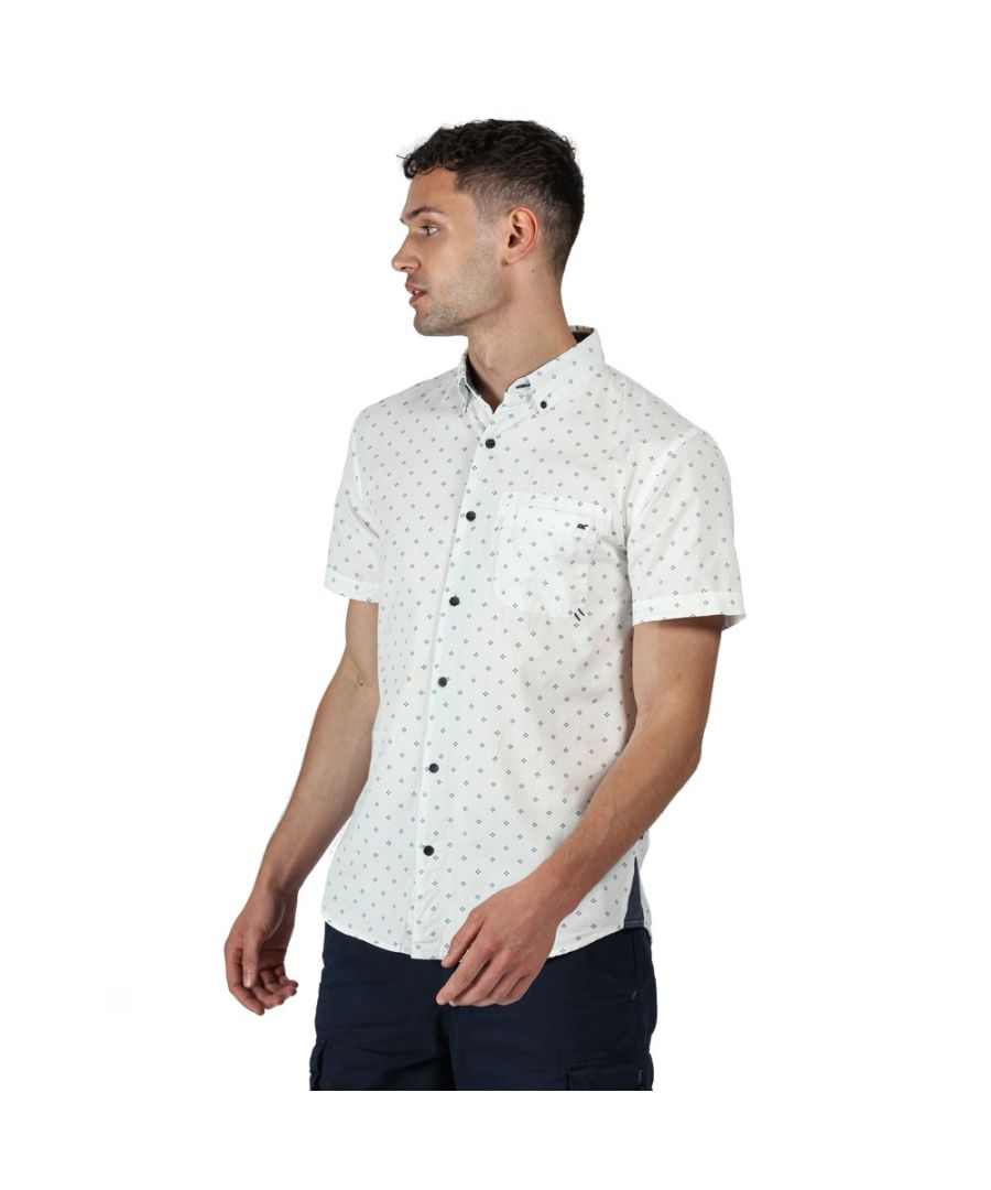 Image for Regatta Mens Dalziel Cotton Casual Short Sleeve Shirt