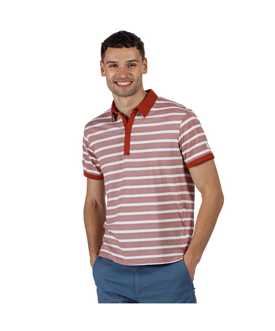 Image for Regatta Mens Morrie Cotton Stripped Casual Polo Shirt