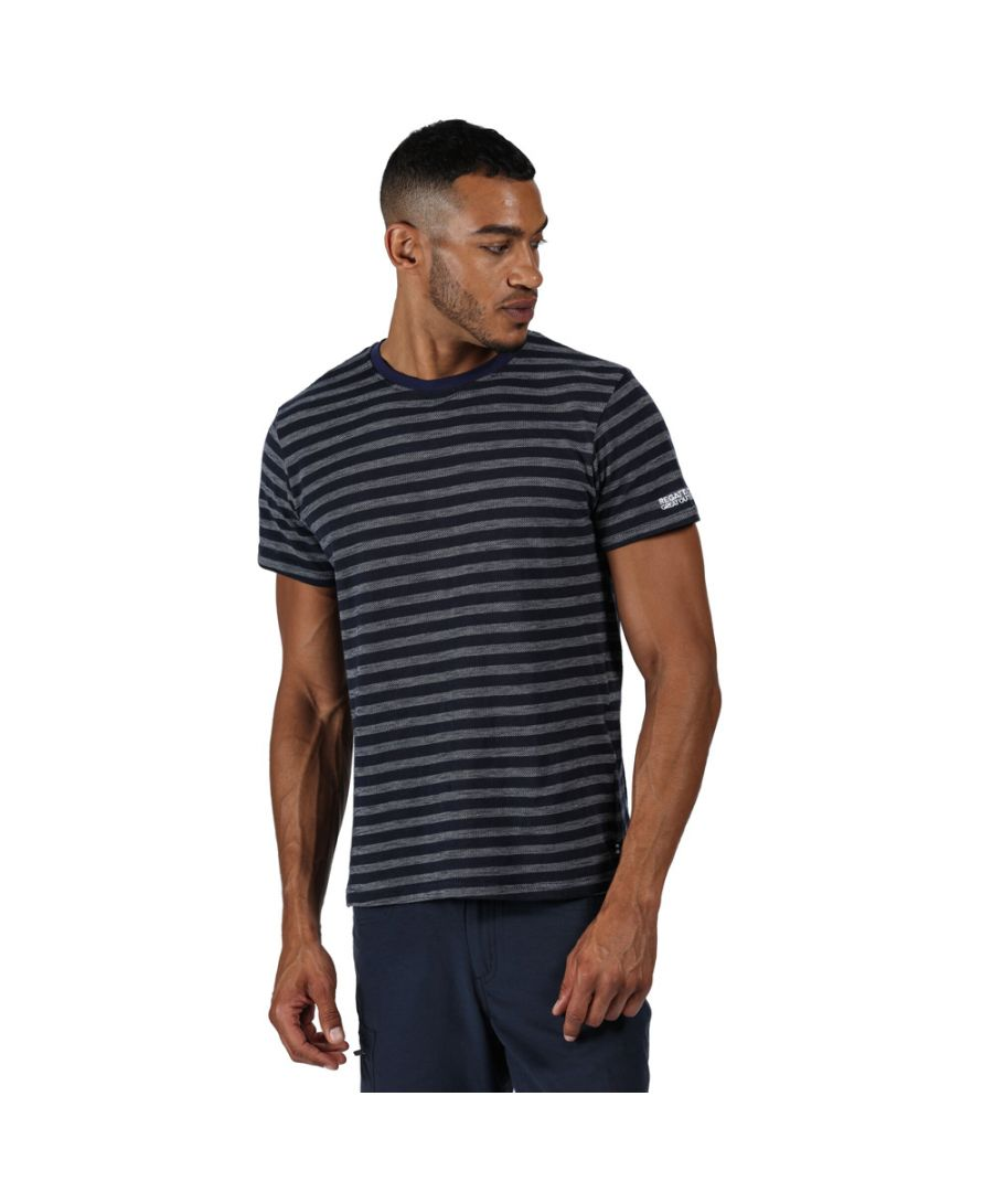 Image for Regatta Mens Tariq Cotton Casual Crew Neck T Shirt Tee