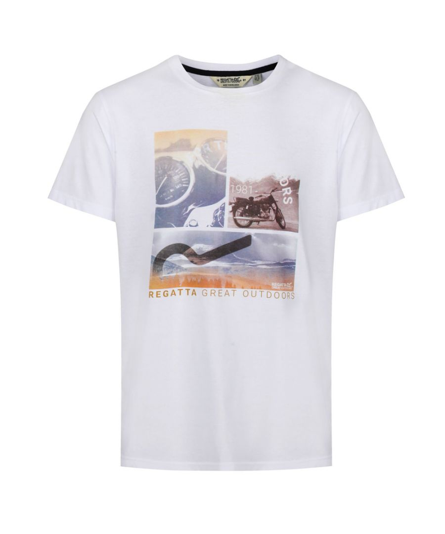 Image for Regatta Mens Cline IV Cotton Casual Grahpic T Shirt Tee