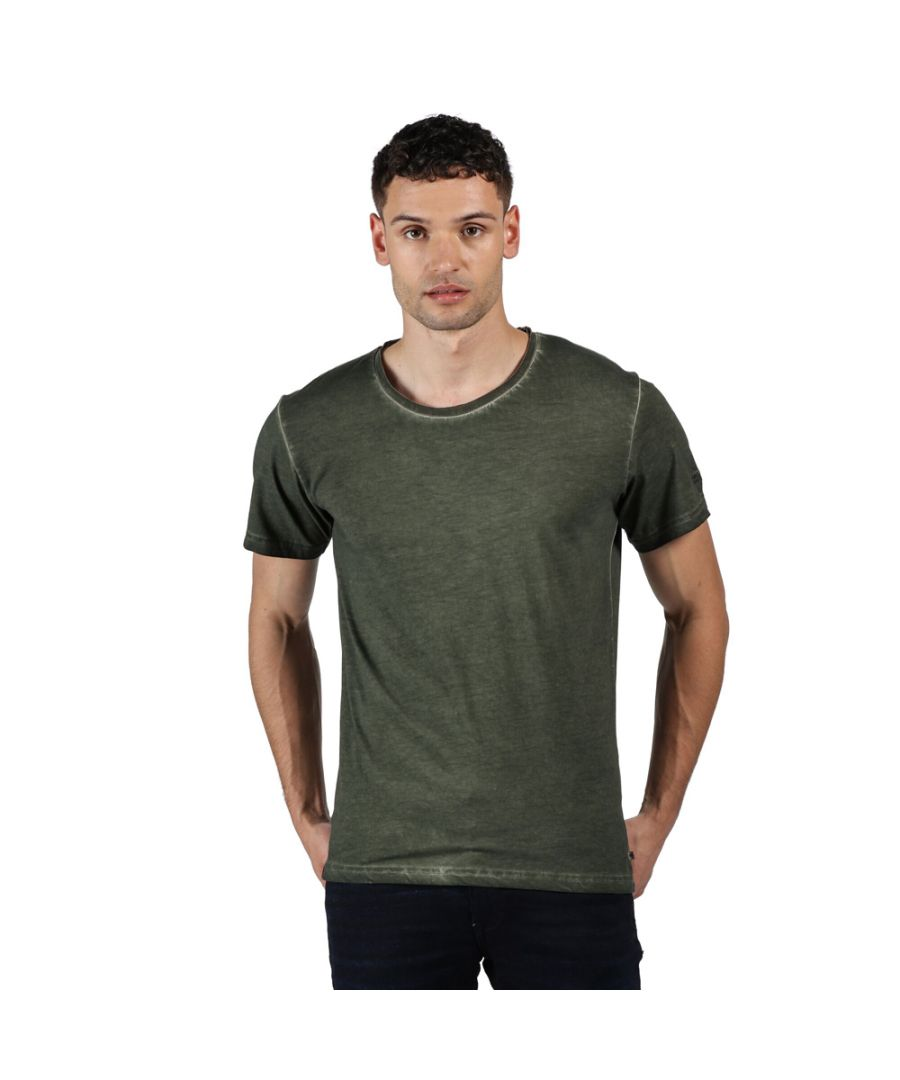Image for Regatta Mens Calmon Cotton Casual Crew Neck T Shirt Tee