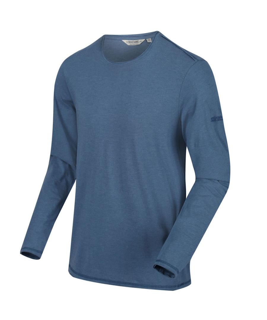 Image for Regatta Mens Karter II Coolweave Cotton Long Sleeve T Shirt