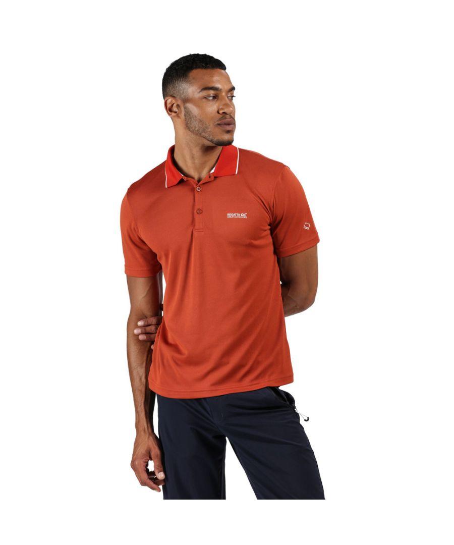Image for Regatta Mens Maverick V Quick Drying Wicking Polo Shirt