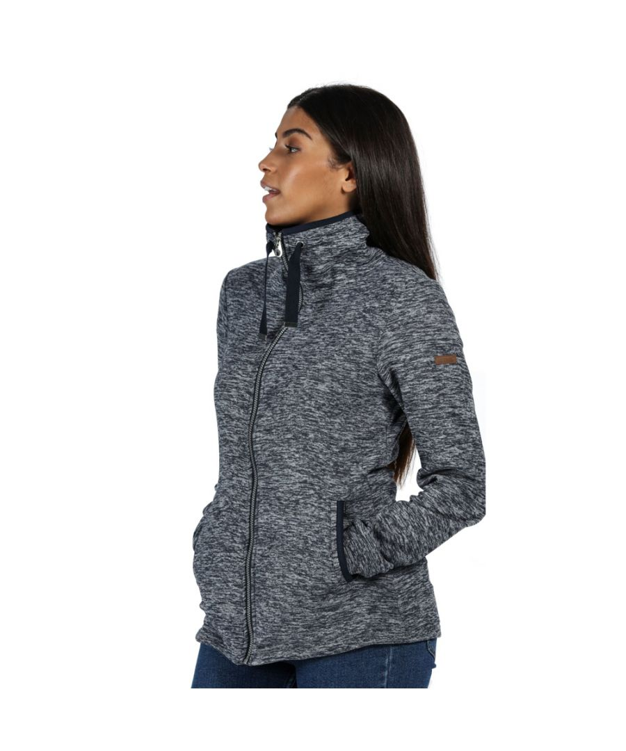 Image for Regatta Womens Evanna Full Zip Marl High Neck Hoodie Sweater