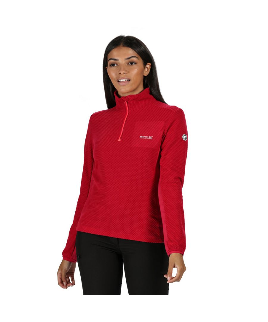 Image for Regatta Womens Highton Half Zip Honeycomb Fleece Jacket