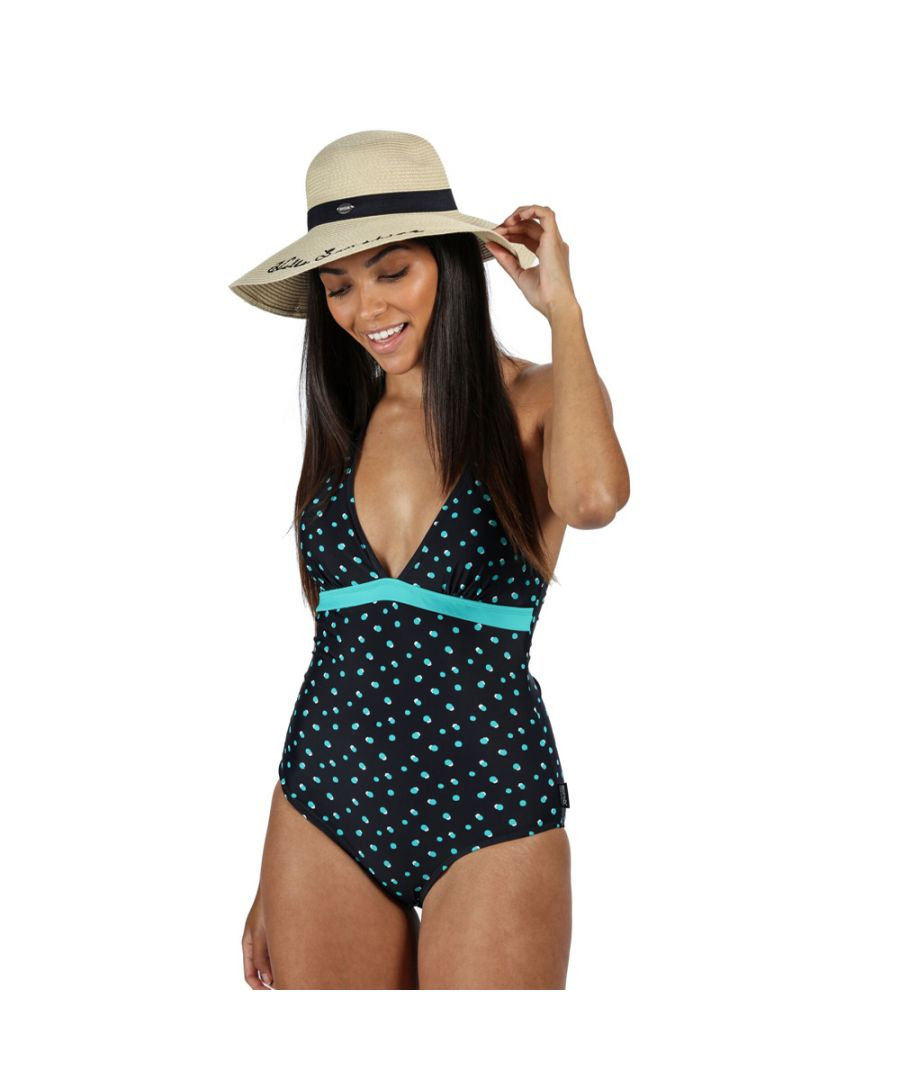 Image for Regatta Womens Flavia Halter Neck Swimsuit Swimming Costume