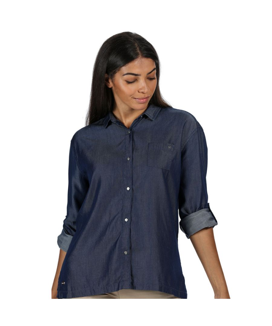 Image for Regatta Womens Meera Coolweave Cotton Long Sleeve Shirt