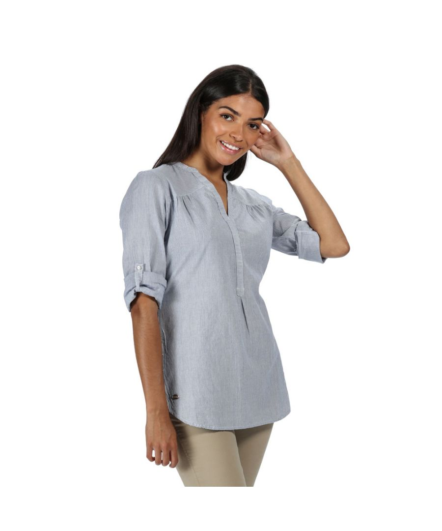 Image for Regatta Womens Maelie Coolweave Cotton Long Sleeve Shirt