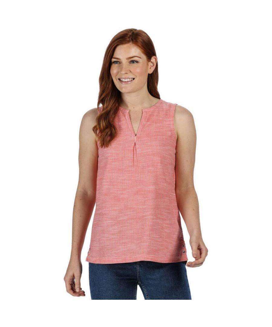 Image for Regatta Womens Jadine Blouse Lightweight Sleeveless Shirt