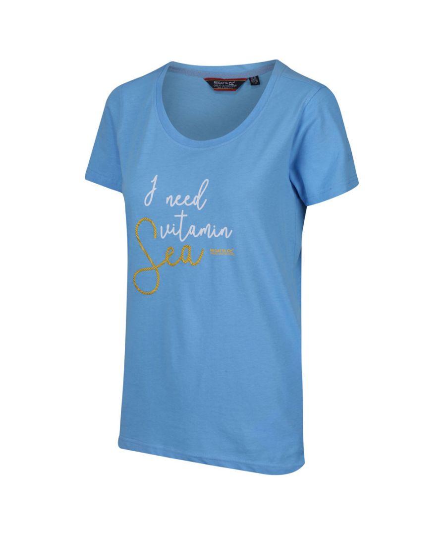 Image for Regatta Womens Filandra IV Coolweave Cotton Graphic T Shirt