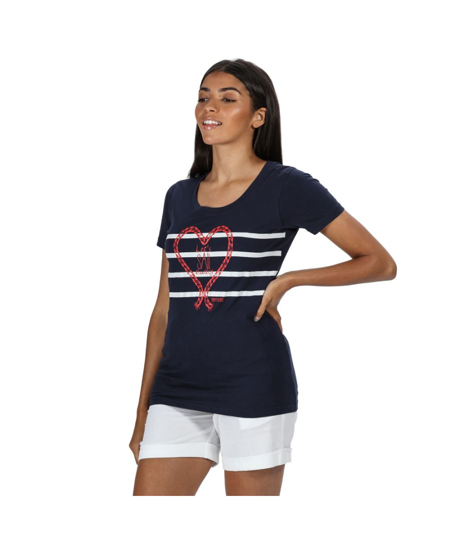 Image for Regatta Womens Filandra IV Coolweave Cotton Graphic T Shirt
