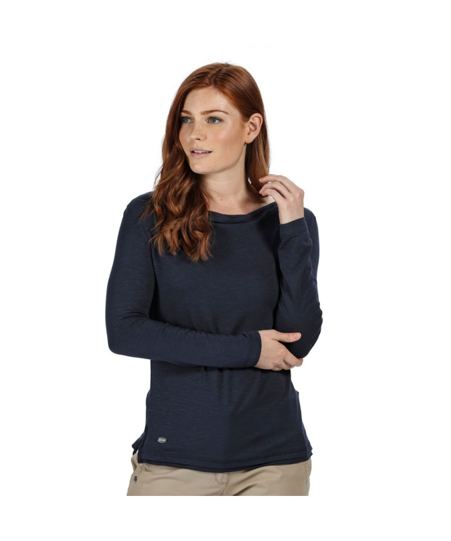 Image for Regatta Womens Frayler Cowl Neck Long Sleeve Slub Jersey Top
