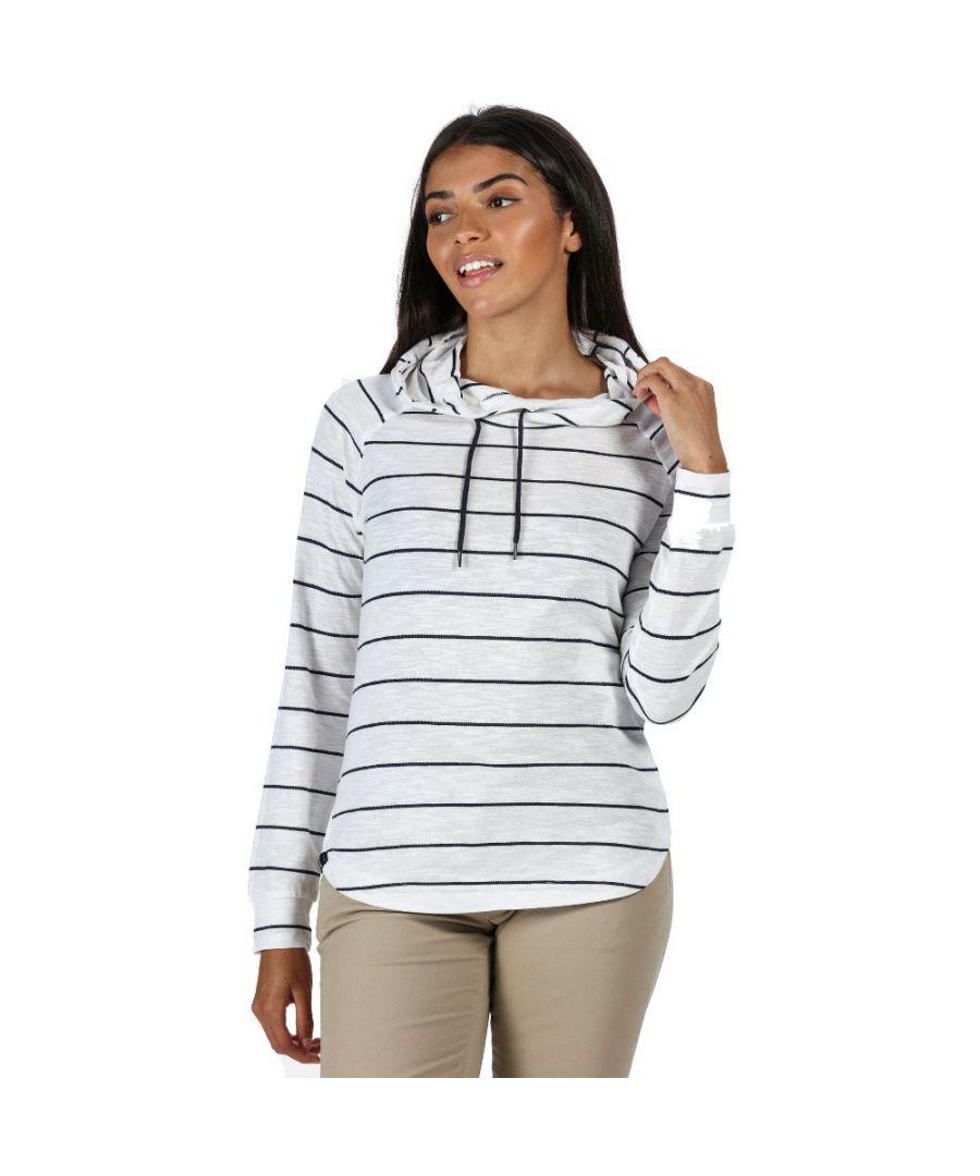 Image for Regatta Womens Merindah Striped Hooded Jersey Hoodie Sweater