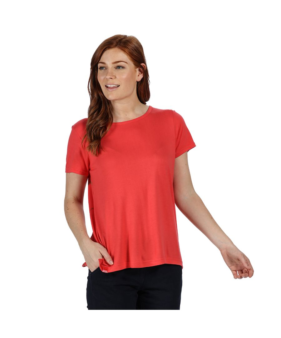 Image for Regatta Womens Aliva Relaxed Fit Round Neck Jersey T Shirt
