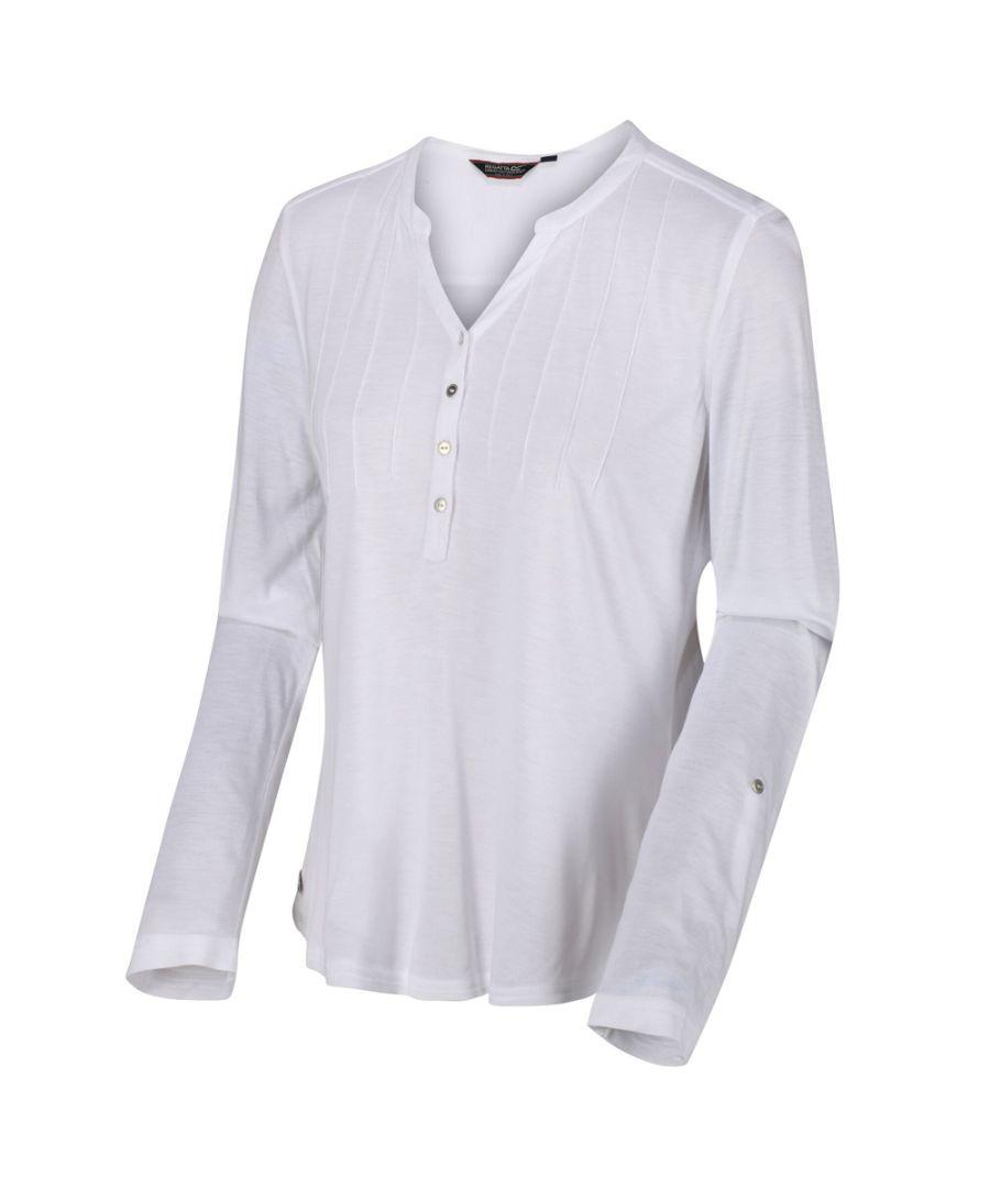 Image for Regatta Womens Fflur Button Detail Jersey Blouse Shirt
