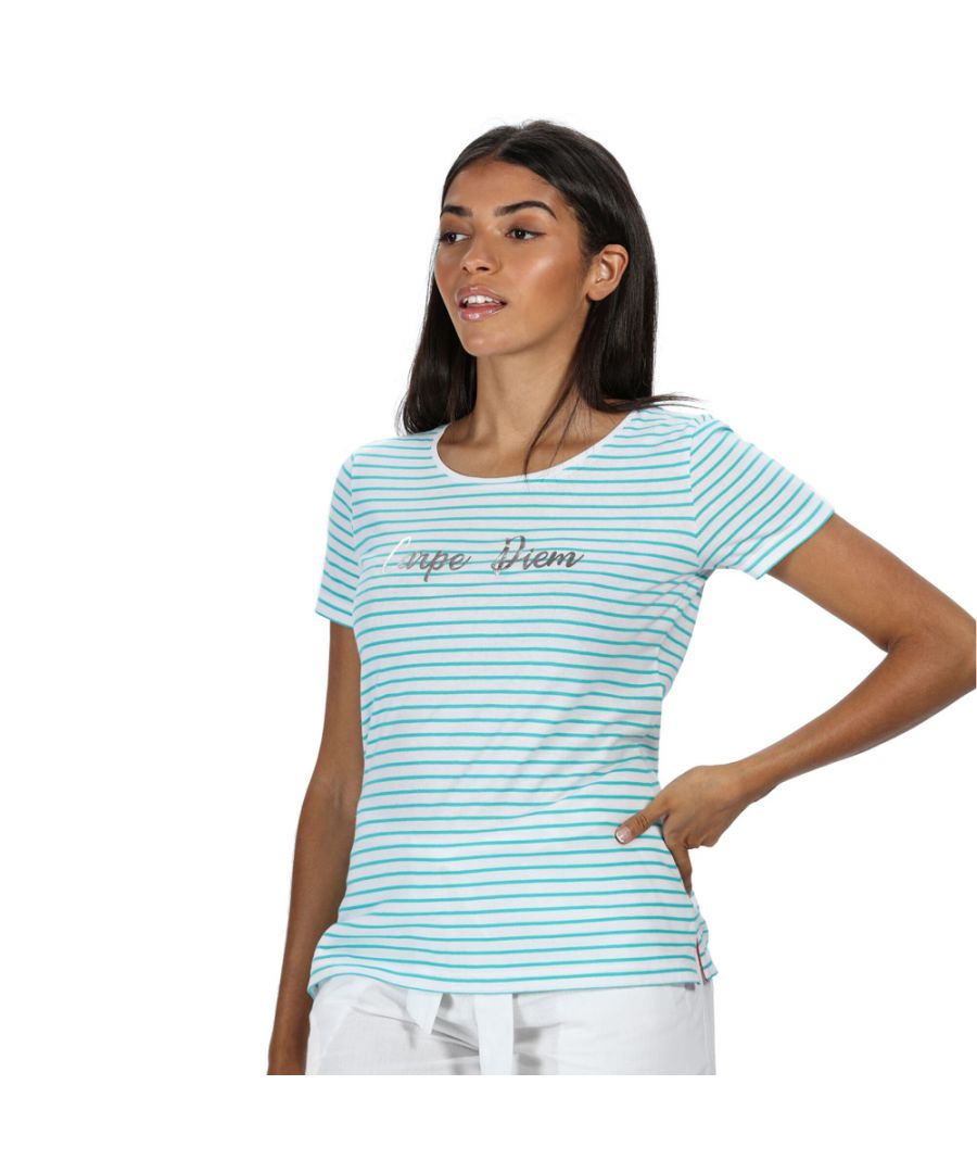 Image for Regatta Womens Olwyn Striped Printed Casual Jersey T Shirt