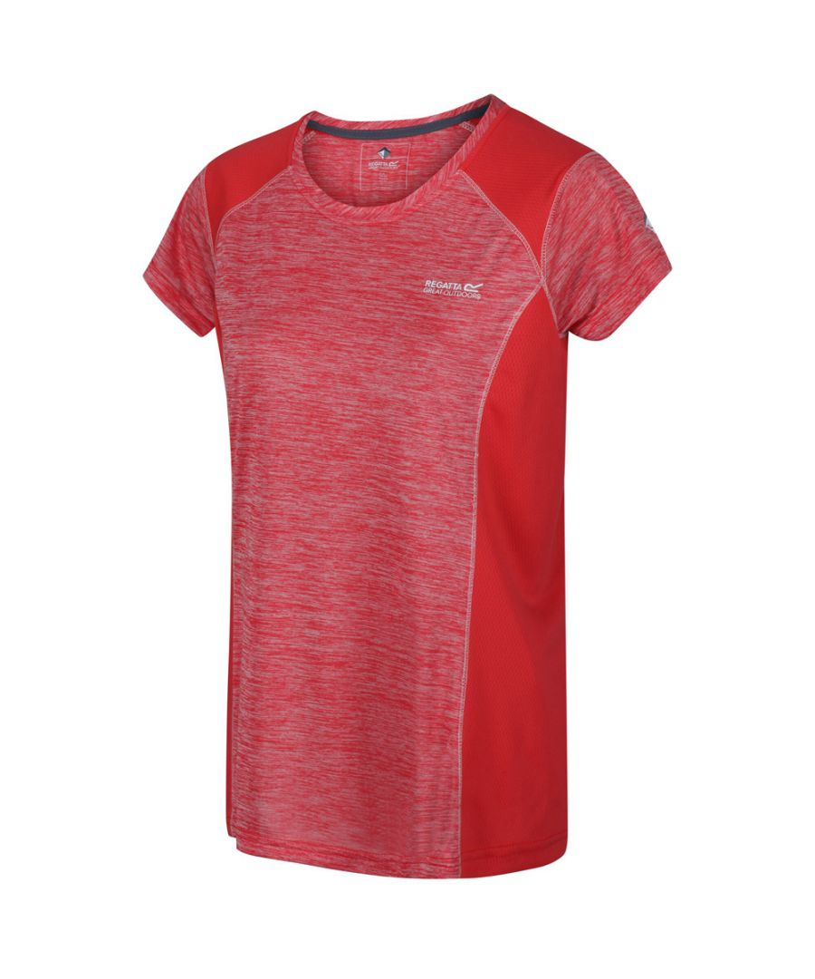 Image for Regatta Womens Breakbar V Quick Dry Wicking Active T Shirt