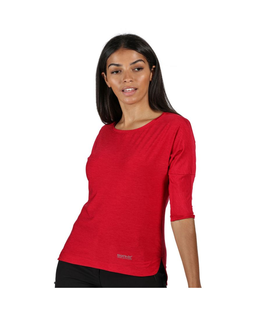Image for Regatta Womens Pulser Wicking 3/4 Sleeve Jersey T Shirt