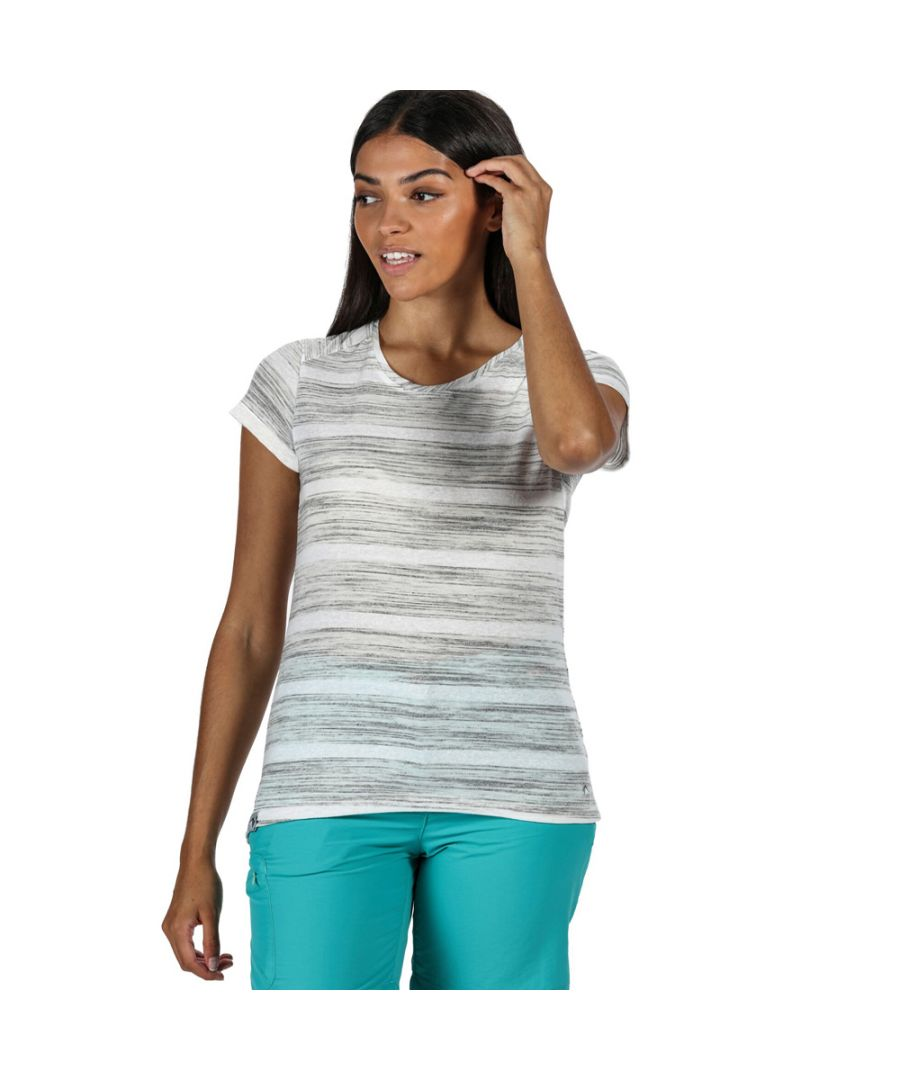 Image for Regatta Womens Limonite IV Wicking Stripe Casual T Shirt