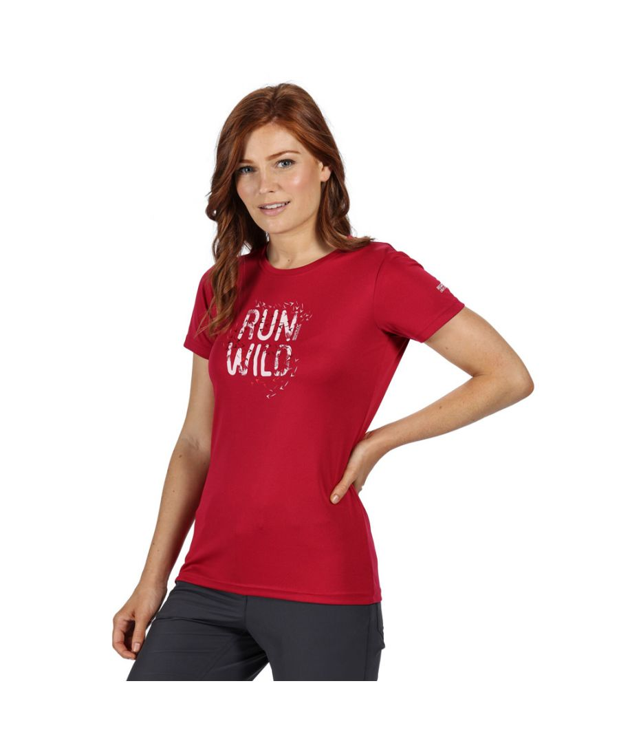 Image for Regatta Womens Fingal V Quick Drying Wicking Graphic T Shirt
