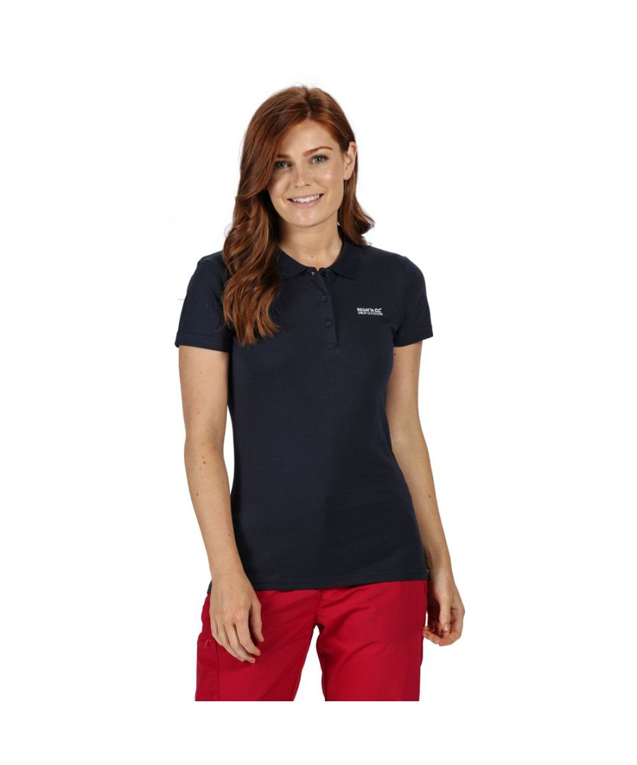 Image for Regatta Womens Sinton Coolweave Cotton Jersey Polo Shirt