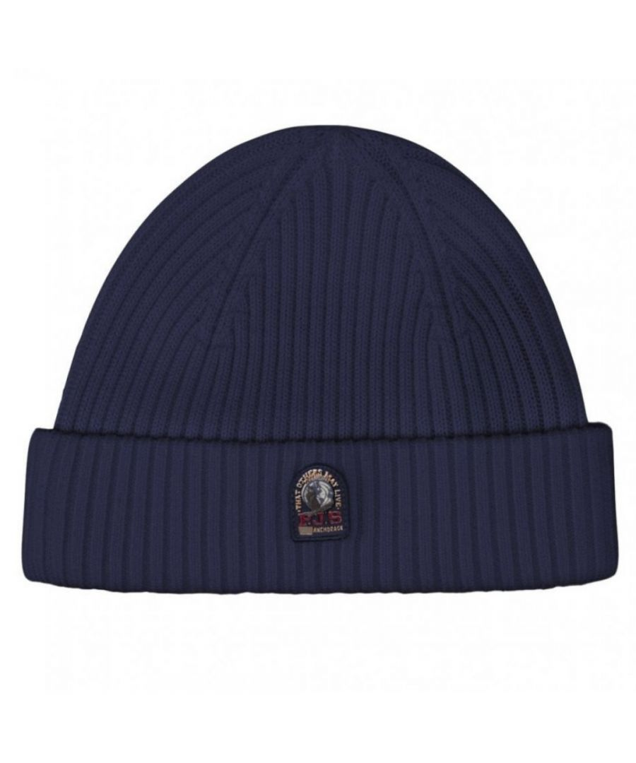 Image for Parajumpers Rib Hat Navy Peony