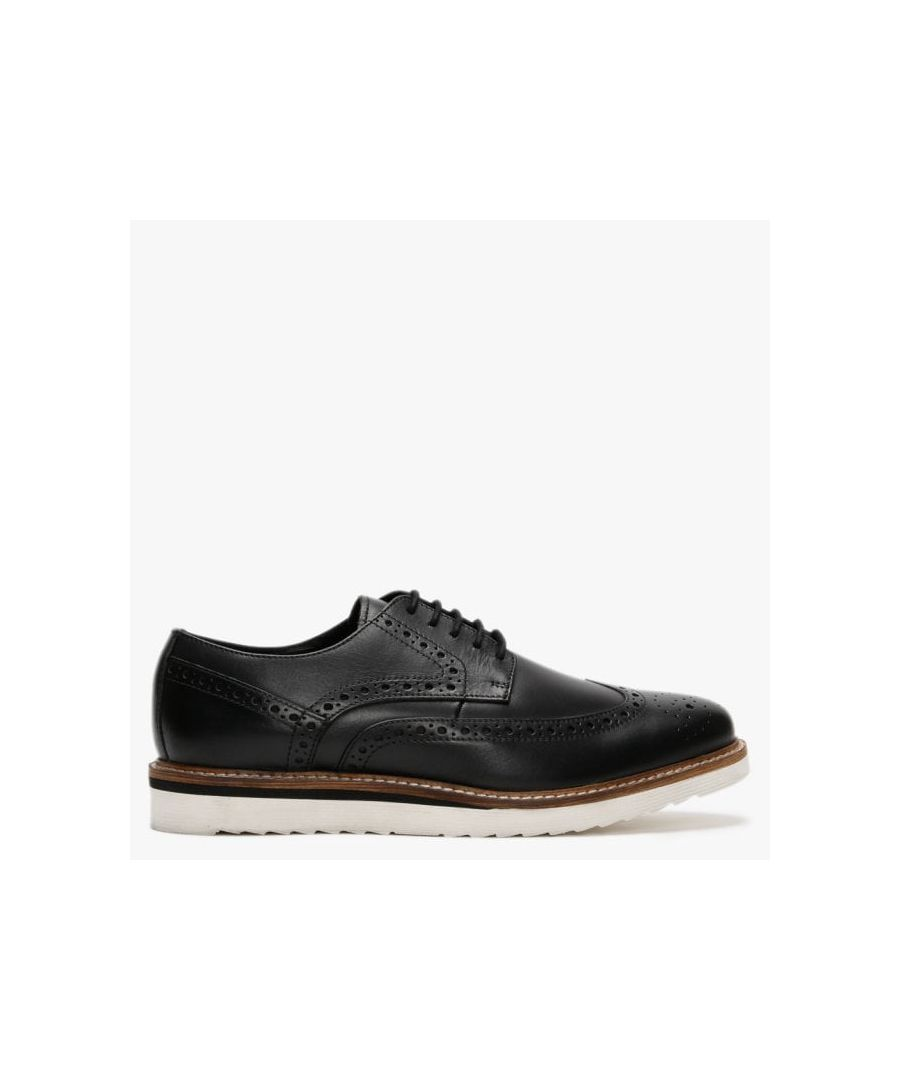 Image for Richman Leather Lace Up Contrasting Sole Brogues