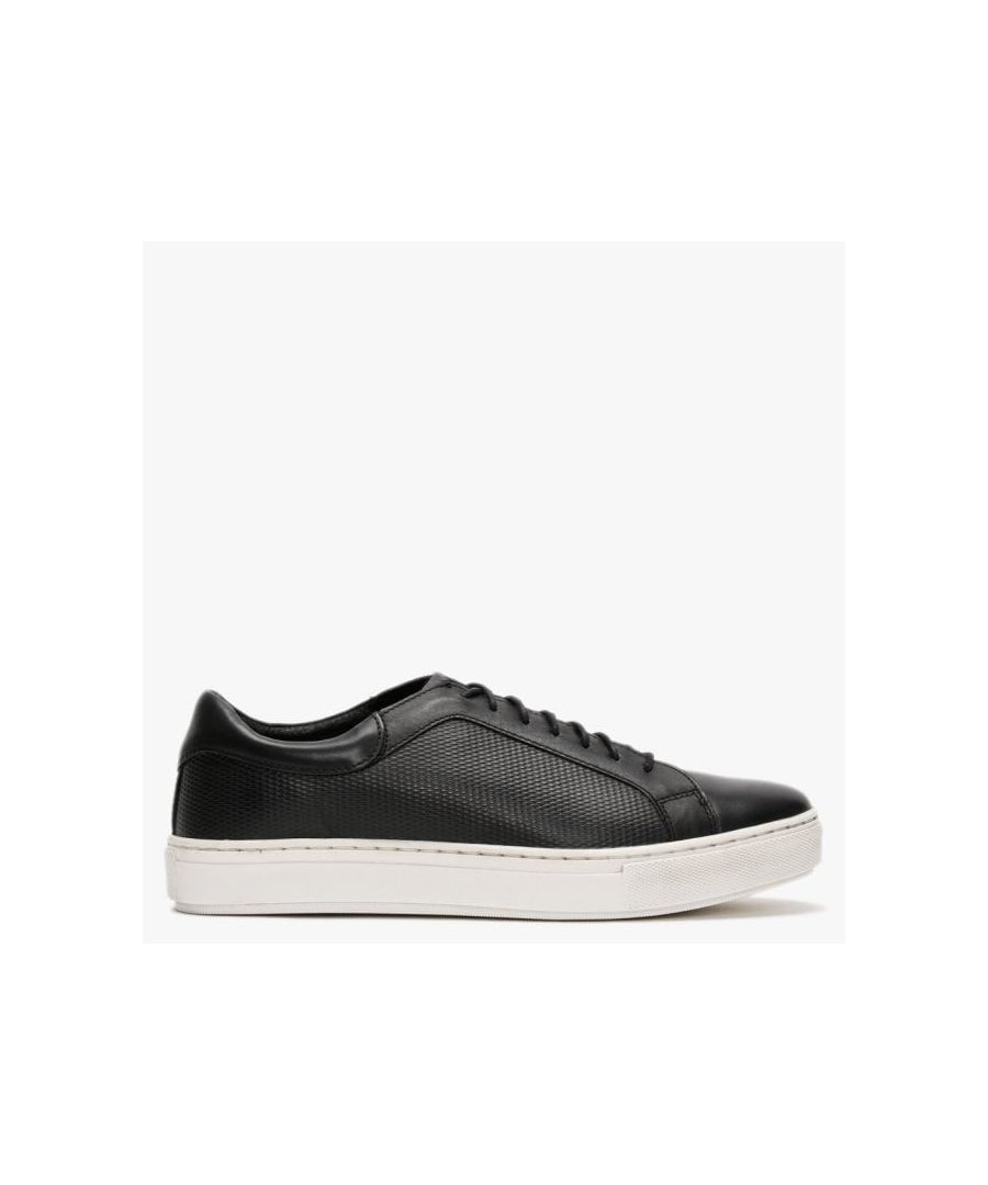 Image for Richman Leather Textured Lace Up Trainers