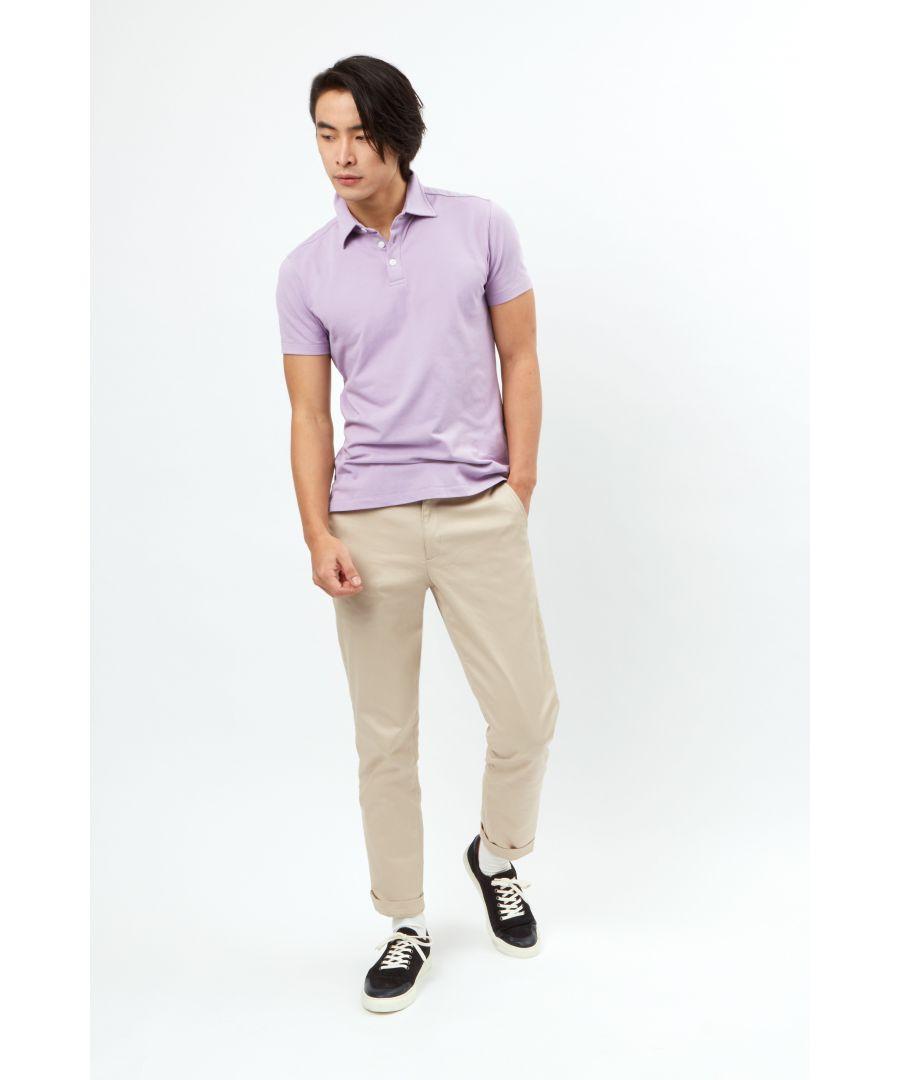 Image for Short Sleeve 3 Button Pique Polo