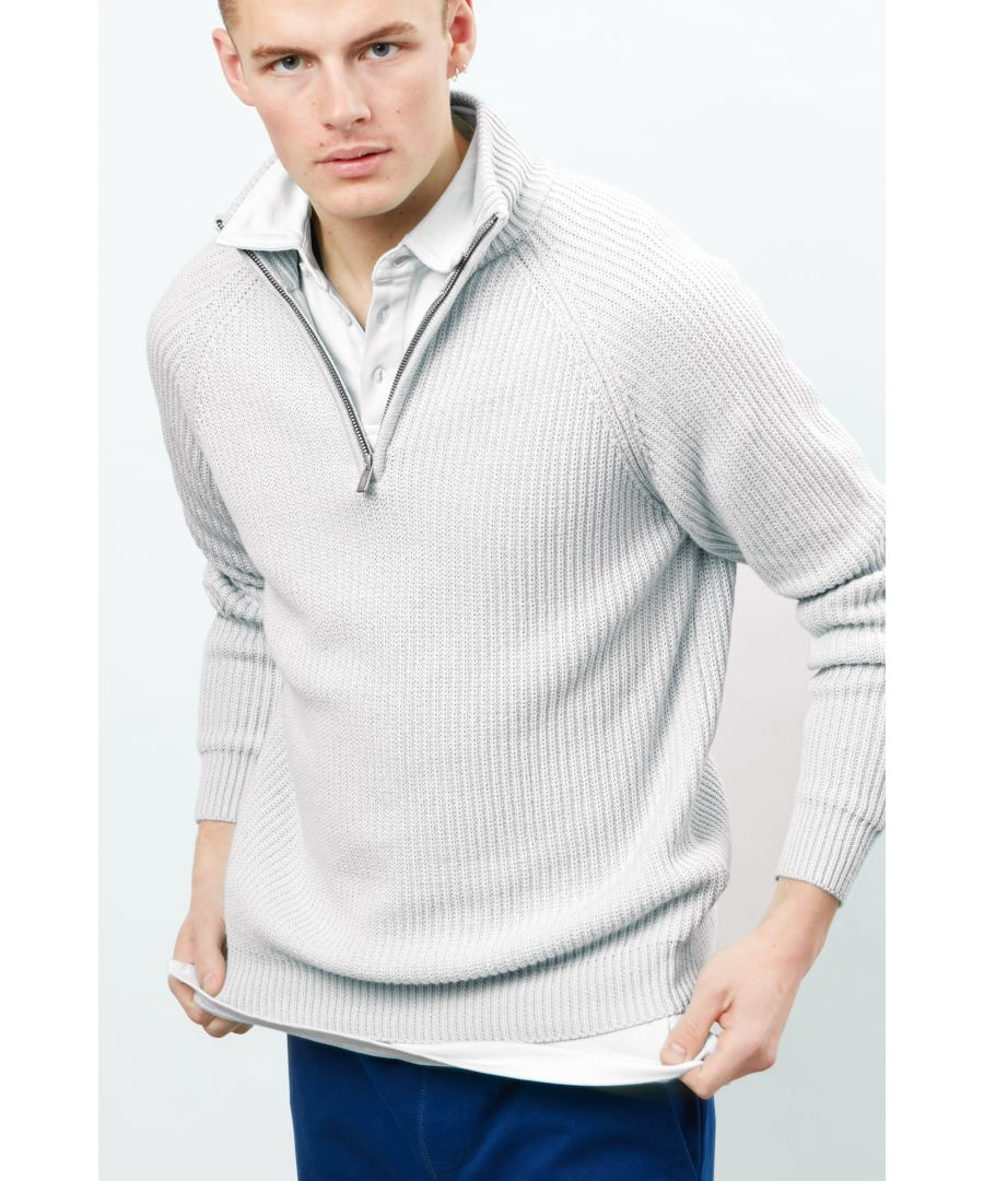 Image for 1/4 zip Roll Neck