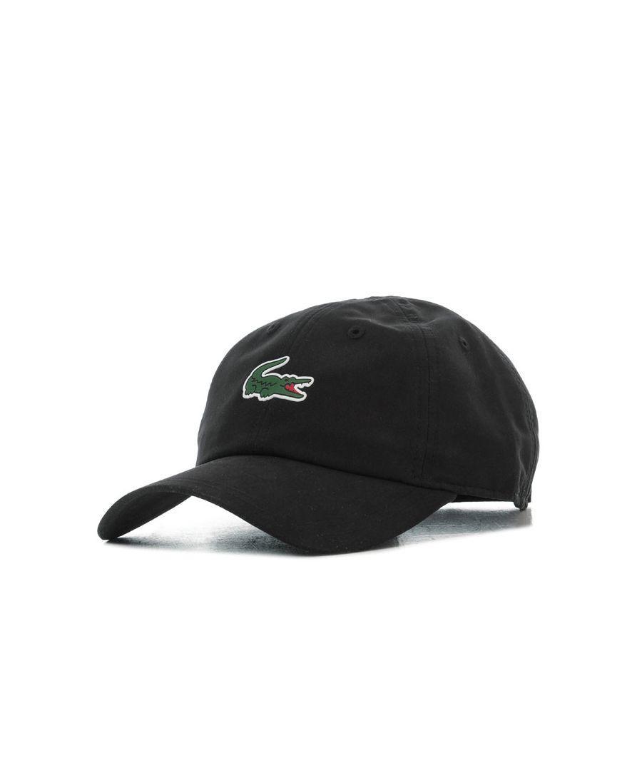 Image for Accessories Lacoste Crocodile Baseball Cap in Black