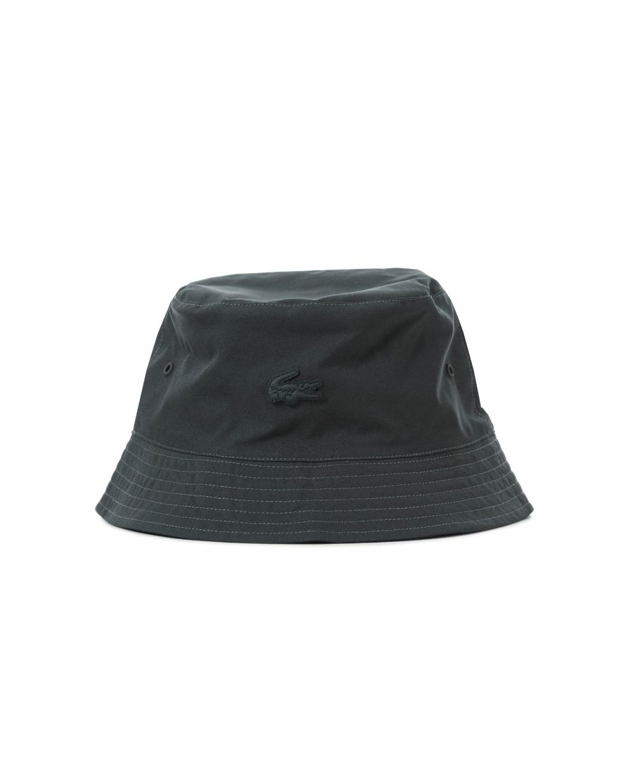 Image for Accessories Lacoste Reversible Bucket Hat in Charcoal