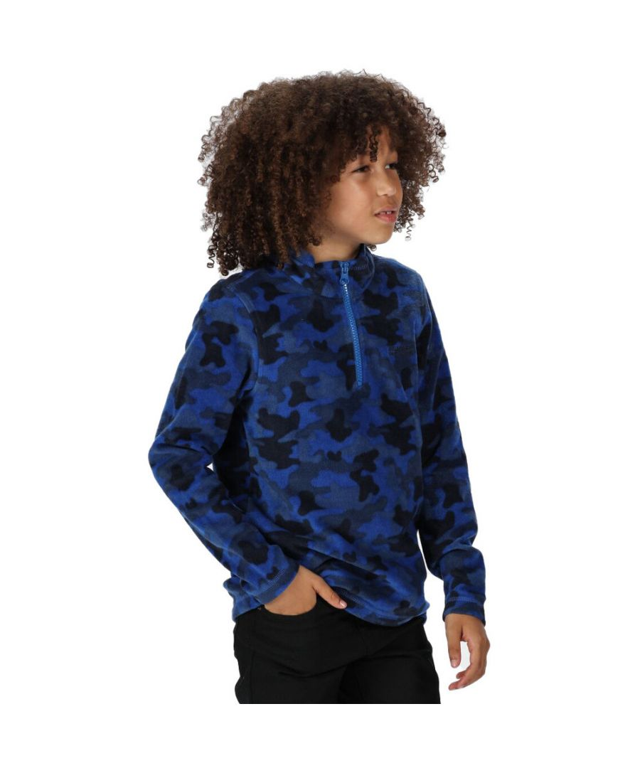 Image for Regatta Boys & Girls Lovely Jubblie Half Zip Fleece Top