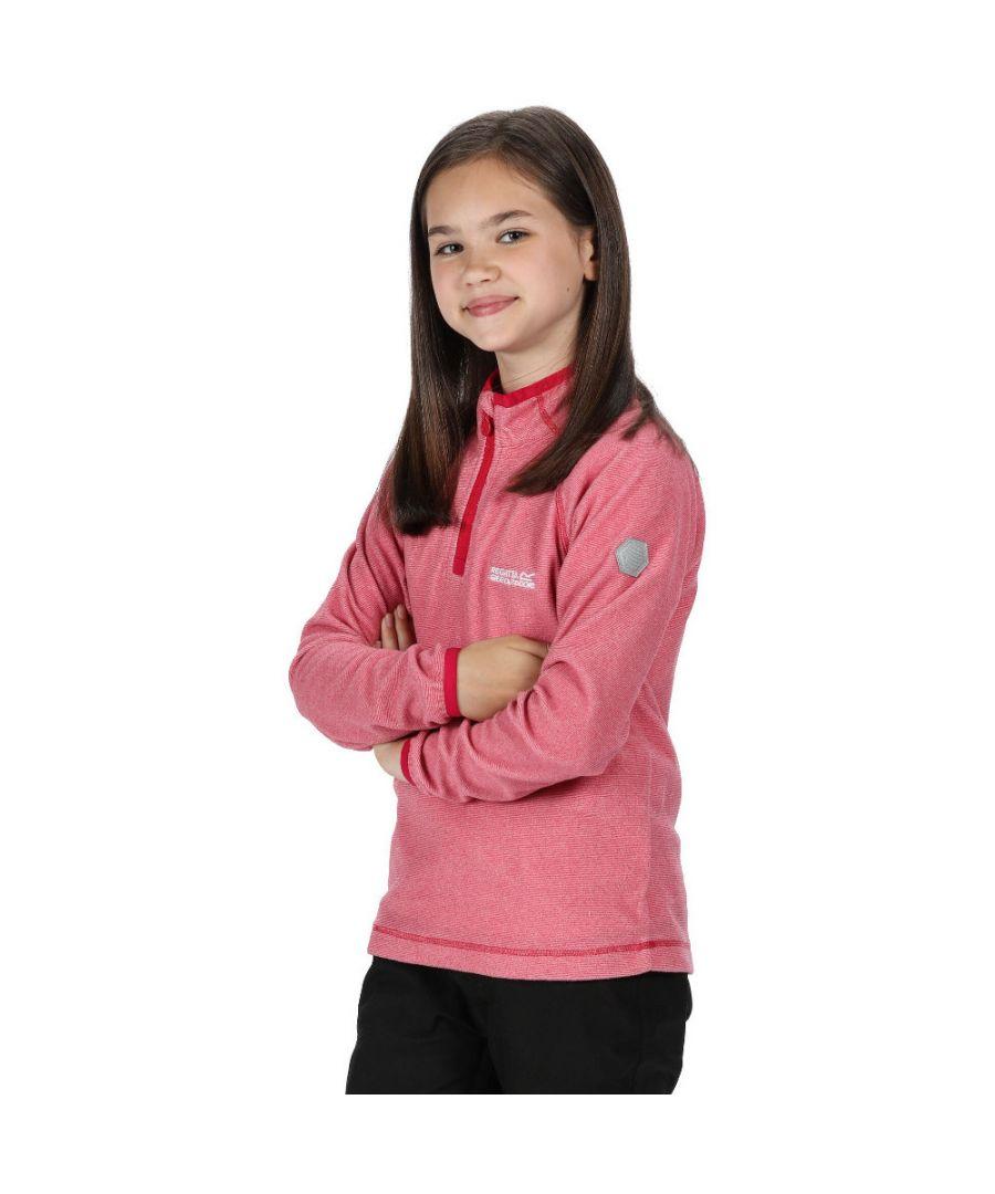 Image for Regatta Boys & Girls Loco Zip Neck Stretch Fit Micro Fleece Jacket Top