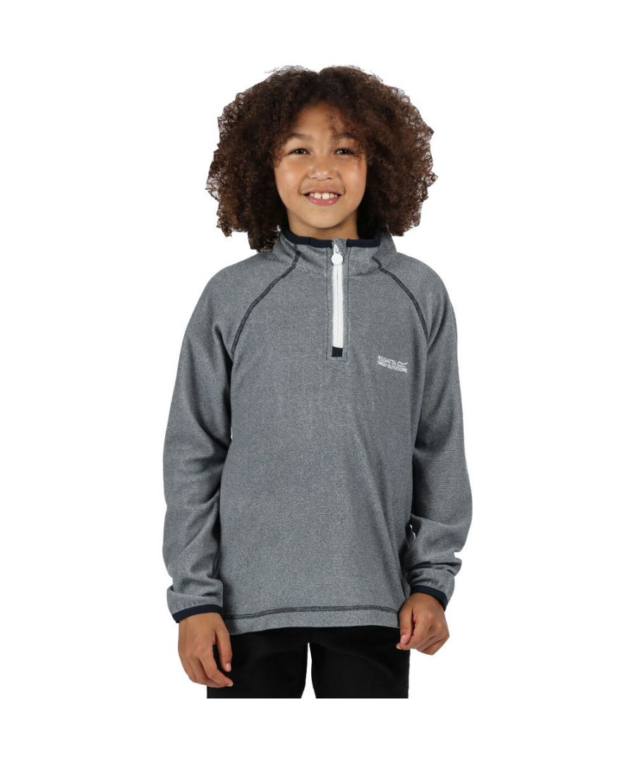 Image for Regatta Boys & Girls Loco Zip Neck Stretch Fit Micro Fleece Jacket Top