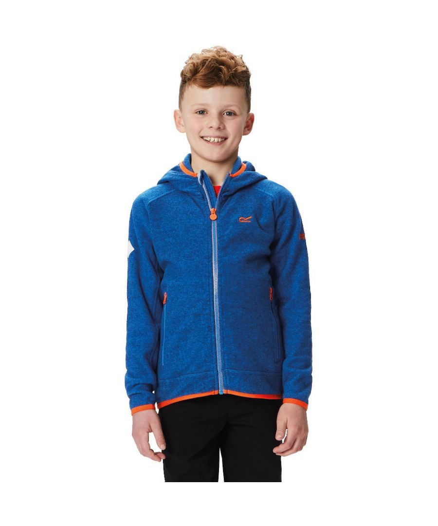 Image for Regatta Boys & Girls Upflow II Polyester Hooded 2 Tone Walking Fleece