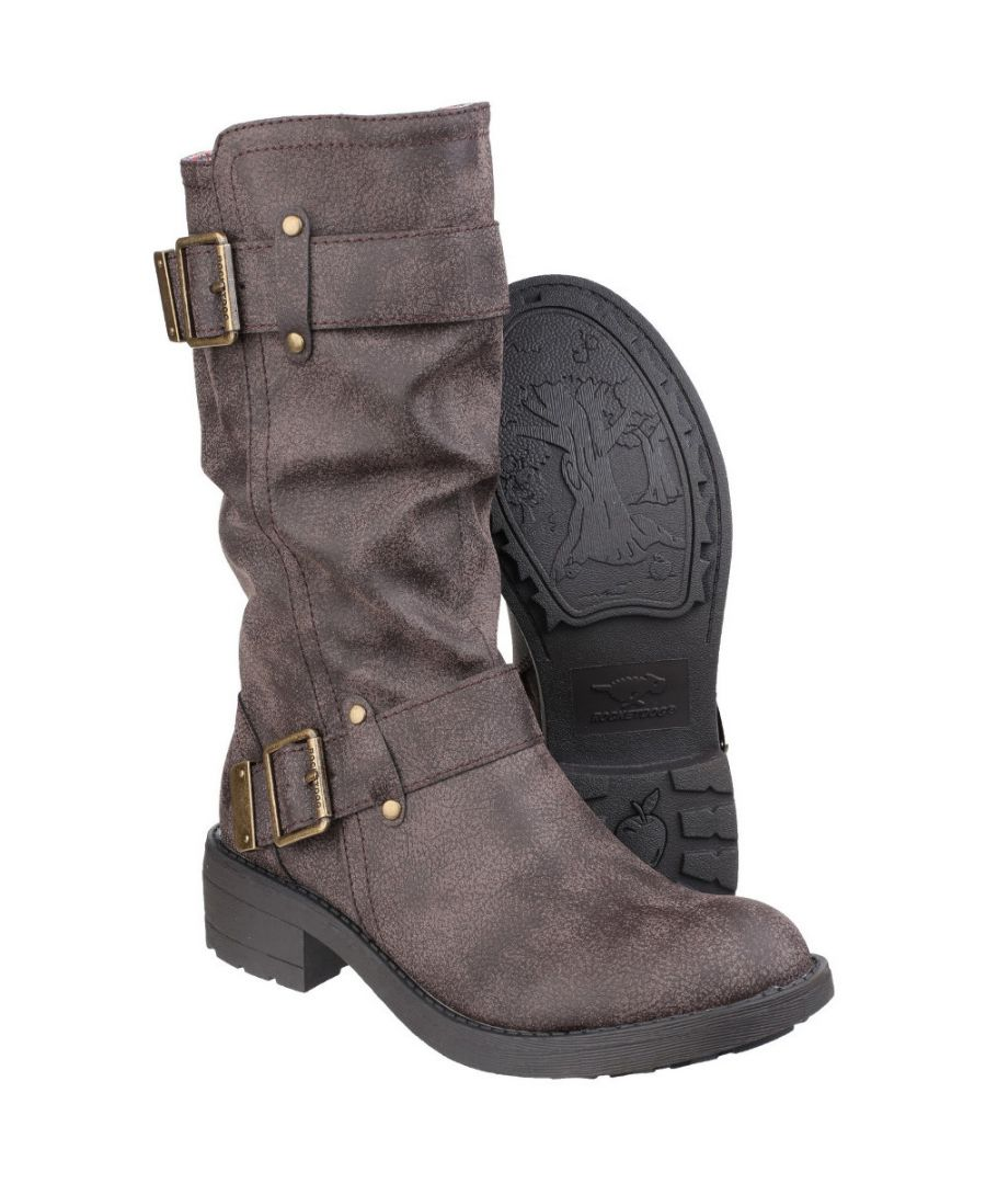Image for Rocket Dog Womens/Ladies Trumble Zip up Faux Leather Mid Calf Boots