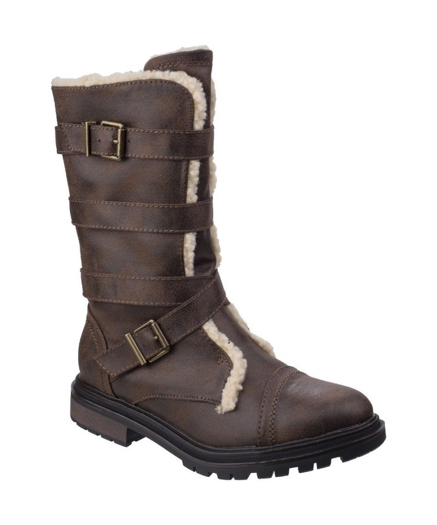 Image for Rocket Dog Womens/Ladies Lance Zip Up Durable Casual Tall Buckle Boots