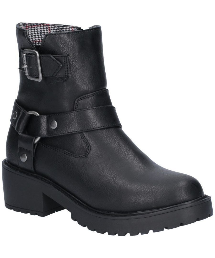 Image for Rocket Dog Womens Pluto Buckled Zip Up Chunky Ankle Boots