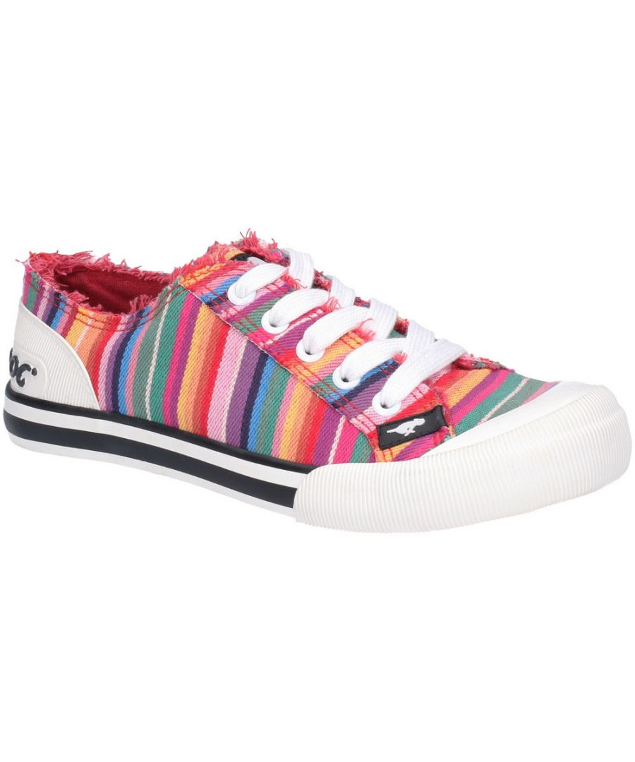 Image for Rocket Dog Womens Jazzin Eden Stripe Lace Up Beach Pumps