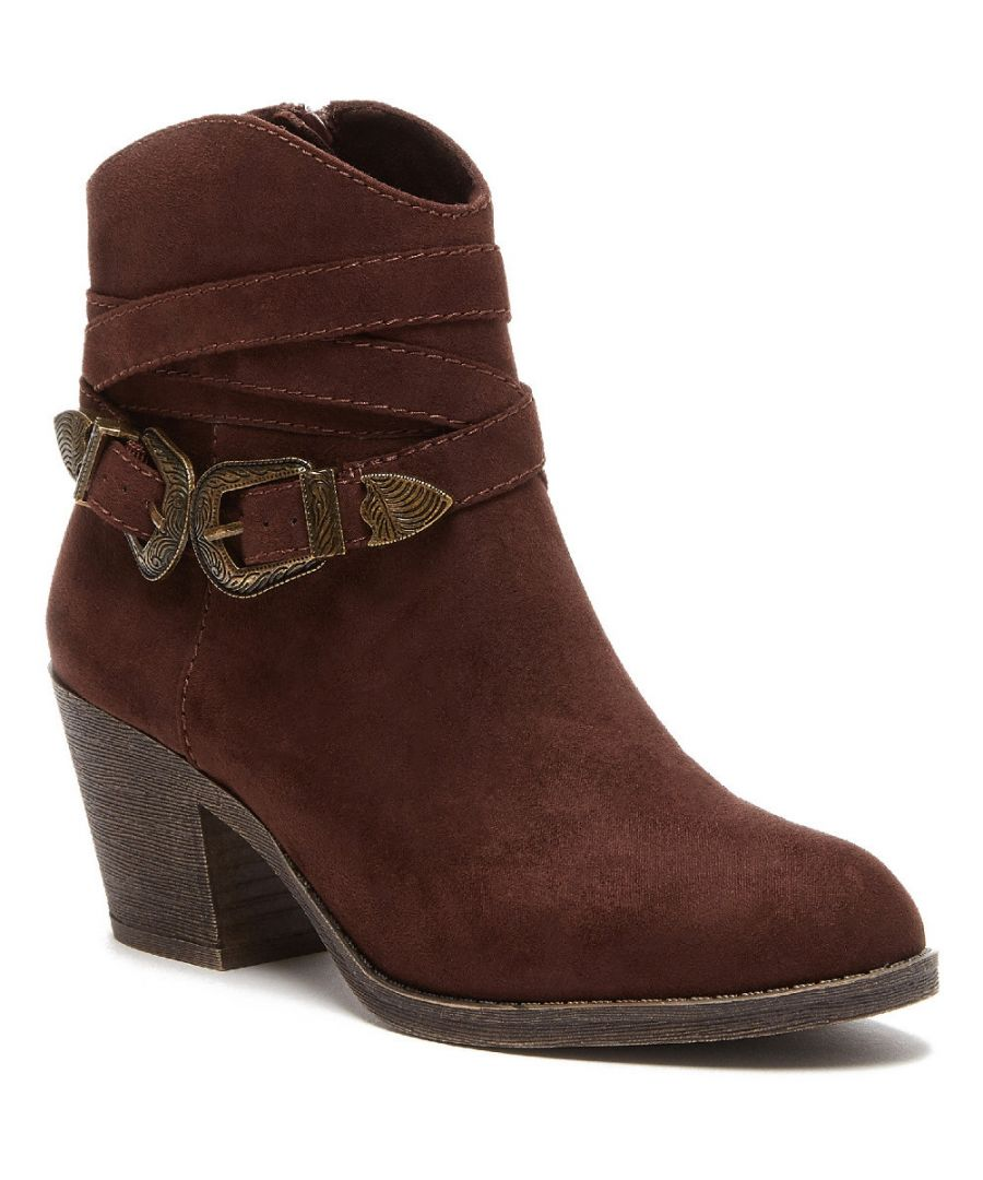 Image for Rocket Dog Womens Sadea Chunky Heel Western Ankle Boots