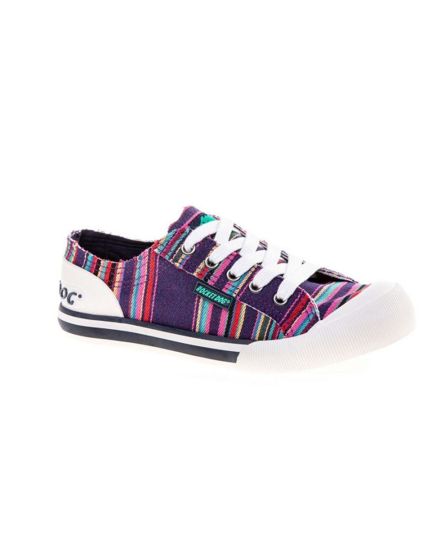 Image for Rocket Dog Womens Jazzin Canvas Aloe Lace Up Trainers
