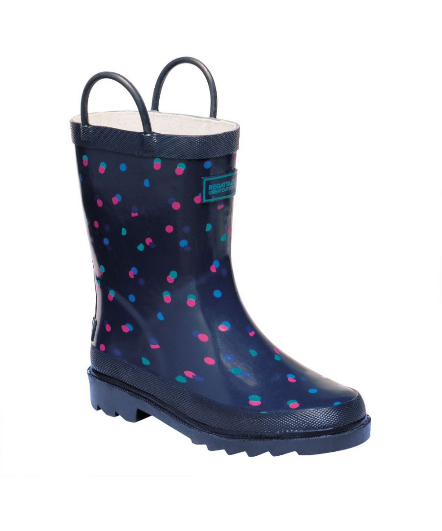 Image for Regatta Boys Puddleduck Welly Printed Full Rubber Wellington Boots