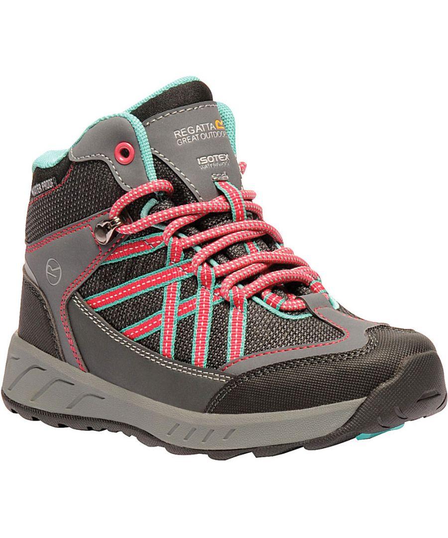 Image for Regatta Boys & Girls Samaris Mid Waterproof Isotex Hiking Boots