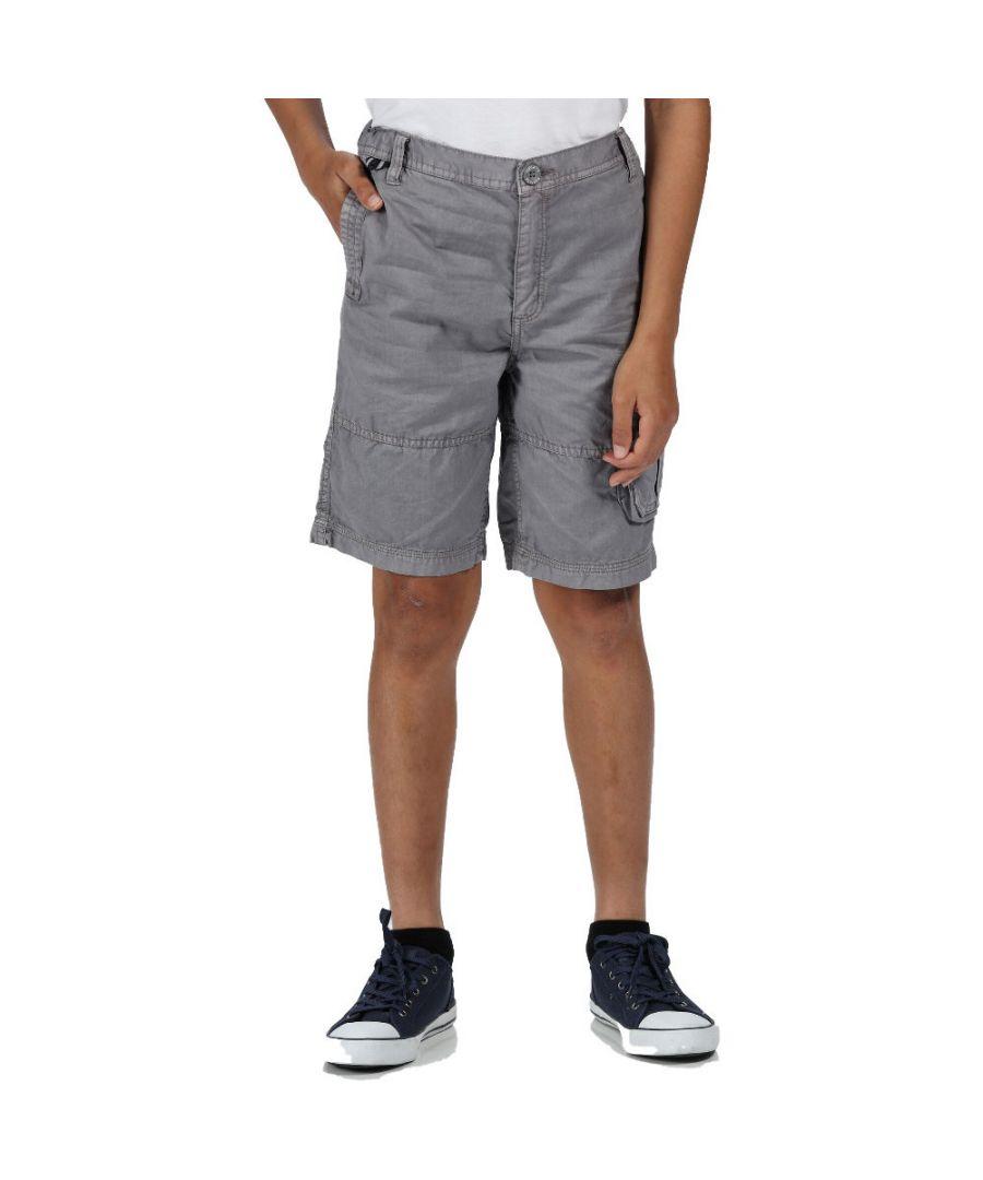 Image for Regatta Boys Shorewalk Camoflauge Cotton Twill Shorts