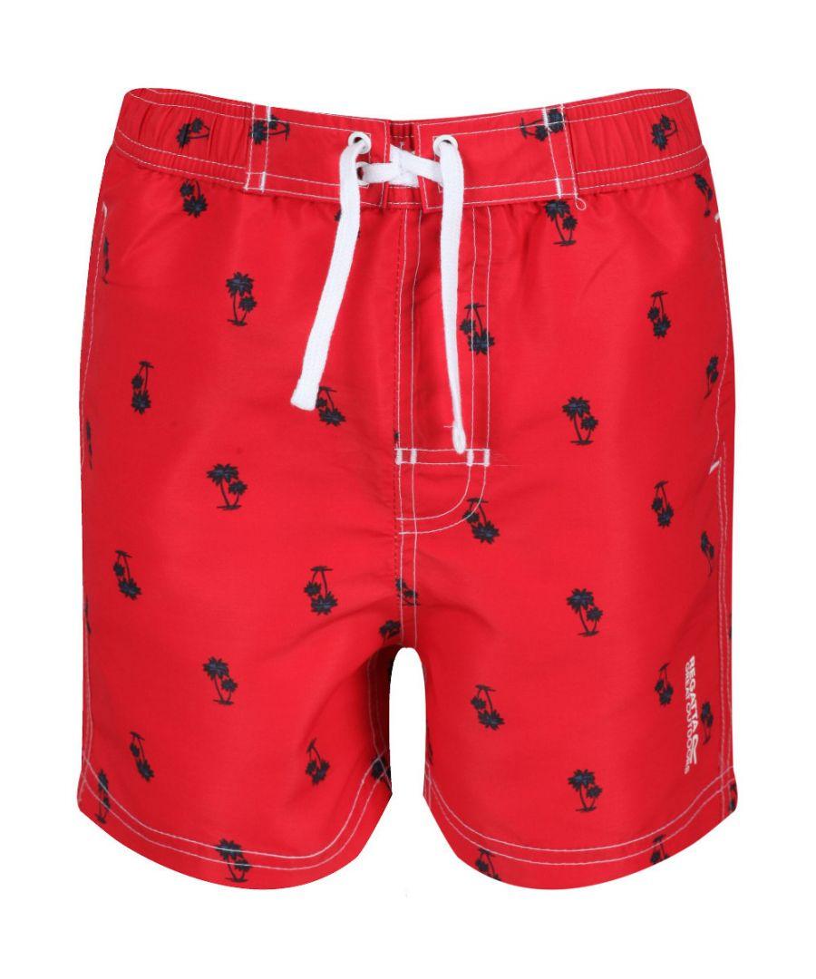 Image for Regatta Boys Skander II Camoflauge Quick Dry Swim Shorts