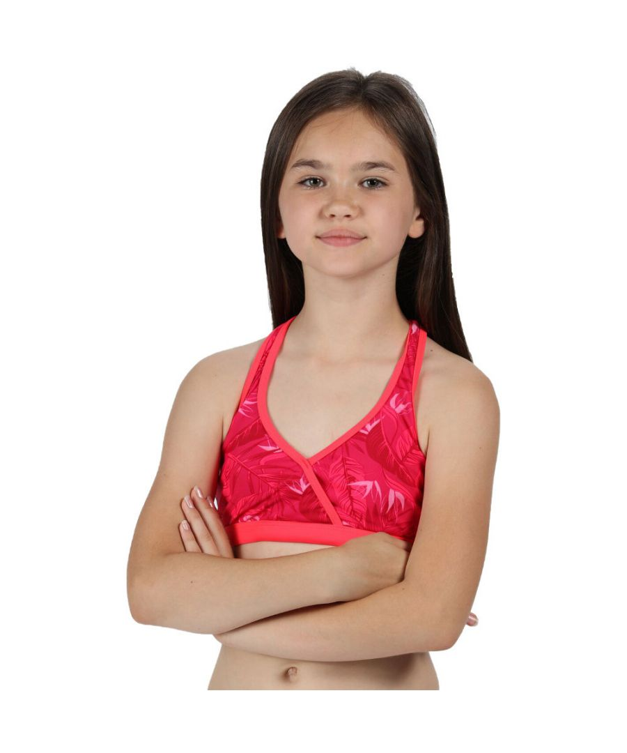 Image for Regatta Girls Hosanna Racer Back Printed Bikini Swim Top